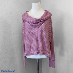 Free People We The Free Size XS Cowl Neck Top